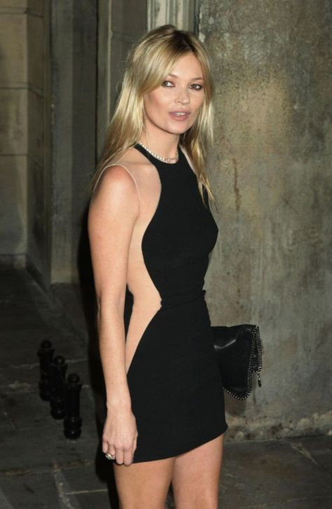 Kate Moss arriving for the Stella McCartney Winter 2012 London Evening Wear Presentation